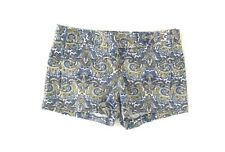 "J Crew Womens 3"" Printed Stretch Chino Shorts Size 0 Blue Paisley City Fit N5"
