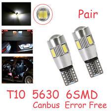 2x T10 5630 LED CANBUS Kennzeichenbeleuchtung Nummernschildbeleuchtung für Opel