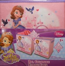 "Storage Cube Disney SOFIA THE FIRST Pink Collapsible Organizer Bin 10"" 2 Pack"