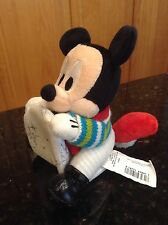 DISNEY MICKEY MOUSE CHRISTMAS SLEIGH SLED PLUSH PULL STRING VIBRATE SHAKIN SCOOT