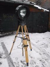 VINTAGE INDUSTRIAL WOODEN TRIPOD LIGHT LAMP