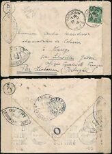 FRANCE 1940 CENSORED COVER to KANGO GABON via PORTUGAL AEF LIBREVILLE