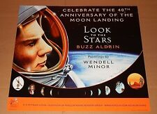 """2009 """"LOOK TO THE STARS ~ BUZZ ALDRIN"""" SIGNED PRINT by WENDELL MINOR (18"""" x 20"""")"""