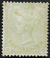 1877 QV SG153 4d Sage-Green Plate 15 Mint Never Hinged No Gum CV £1600