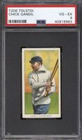 Very Rare 1909-11 T206 Chick Gandil Tolstoi Chicago Black Sox PSA 4 VG - EX