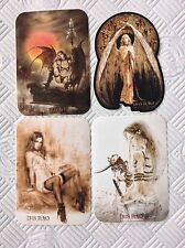 4 x Official Luis Royo Sticker Gothic Angel Girl Vinyl Sticker Sexy Erotic Nude