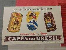 ancien buvard CAFES DU BRESIL ste franco algerienne n°2