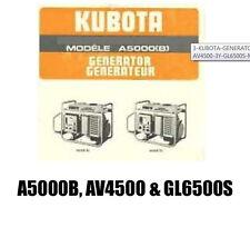 3 KUBOTA GENERATOR A5000B-3-120-Y and AV4500-3Y GL6500S Manual Parts Instruction