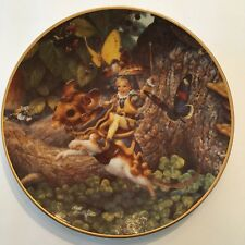 """Vintage 1992 Classic Fairy Tales Tom Thumb Limited Ed Collector Plate 8.5"""""""