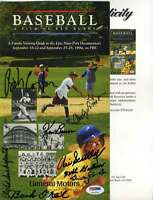 Vin Scully Psa/dna Signed By 8 Ken Burns Baseball Booklet Authentic Autograph