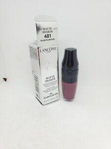 New In Box Lancome Matte Shaker Liquid Lipstick, 481 Plum Plum Girl,  0.20 oz.