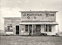 """1936 Photo Of old Saloon in North Dakota, 16""""x11"""" Vintage Country Store"""