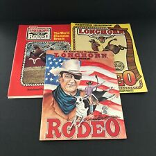 Vintage LONGHORN World Championship Rodeo Programs Set of 3 from 1980s