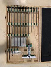 "Mitutoyo 129-150 Depth Micrometer Gauge Set 0-12"" Made in Japan"