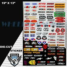 MOTOCROSS MOTORCYCLE DIRT BIKE ATV HELMET SPONSOR LOGO RACE STICKER DECAL #IK939