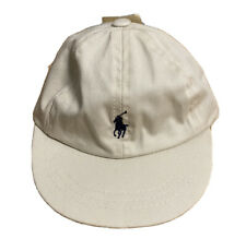 Vintage 90s Polo Ralph Lauren Infant Baby 0-6 Months Beige Cap Hat New With Tags
