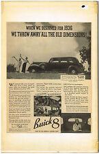 1936 Buick Car Sedan Automobile 8 Passenger Coupe Magazine Advertisment Vintage