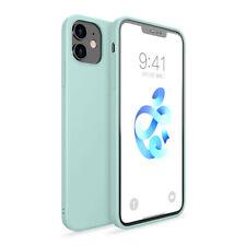 Llanura Funda de silicona líquida para iPhone 12 Mini 12 Pro Max 11 XR XS X 8 7