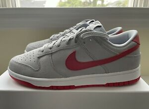 Nike iD Dunk Low 365 By You Custom Heather Grey/Red/White AH7979 992 Men's US 9