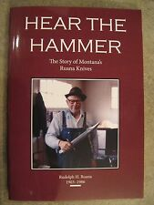 """Book on Ruana Knives, """"Here The Hammer"""" 2nd printing."""