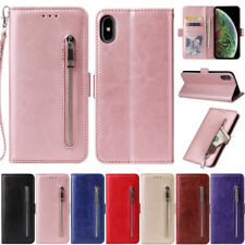 Zipper Flip Wallet Leather Case Cover For iPhone 12 Pro Max 11 X XR SE2 7 8 Plus