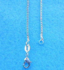 Sterling Silver Plated Box Chain Necklaces 1Pcs 20 inches Wholesale Jewelry 925