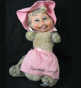 Vtg Rushton Fairyland Plush Rubber Face Bunny Cat 1950s Minnesota Centennial