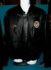 """Louisiana : US ARMY """"Boot Camp"""" LEATHER JACKET size 2XL @ Skull/Guns/Snake PATCH"""