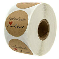 Adhesive Sticker Label Paper Thank You With Love Labels Handmade Sticker Decal