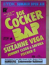 COCKER - BAP - FISCHER Z. 1989 - orig.Concert Poster  --  Konzert Plakat  A1 NEU