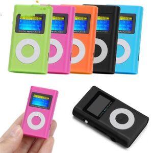 Mp3 Player Portable Music Lcd Digital Screen Clip Micro Sd Card Mini Fm Support