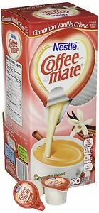 Nestlé Coffee-mate Cinnamon Vanilla Creme Liquid Coffee Creamer 50 ct Box