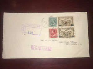 Nice 1933 Canada registered cover, Toronto to pittsburgh via Buffalo usa