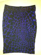 MARCIANO Guess Purple Leopard Cheetah Animal Print Beaded Studs Silk Tube Top S