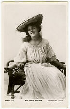 c 1906 British Theater Pretty DORIS STOCKER photo postcard