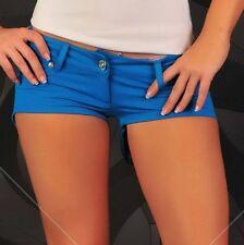 Hotpants Blue Shorts Short kurze Hose Outfit türkis Sexy Gogo 34 36 38 #856