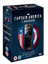 CAPTAIN AMERICA TRILOGY PART 1 2 3 DVD BOX SET MARVEL TRIPLE Original UK Release