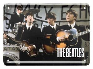 The Beatles DAILY ECHO Metal Sign Steel Fridge Magnet (8cm x 11cm)
