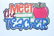 SCHOOL Teacher School Days Title Paper Peicing Scrapbooking Scrapbook Creative