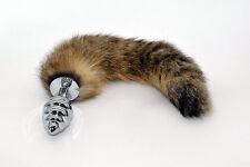 QUEUE DE RENARD PLUG ANAL  -STEEL FOX TAIL ANAL PLUG -  NEUF