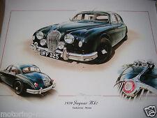 JAGUAR MK1 1959 MARK 1 ENDEAVOUR MORSE UFF 325 CAR PAINTING PRINT ART DUGAN NEW