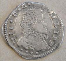 Italian States Sicily 1616 Four Tari KM-11 Better Circulated Grade