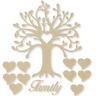 Curvy Family Tree Kit Set Heart 3mm MDF Laser Cut Wooden Craft Blank Wholesale