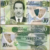 Botswana 10 Pulas Polymer Banknote ( 2018) in UNC