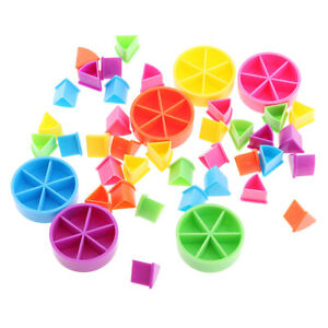 Pack of 42 Pieces Trivial Pursuit Game Pieces Pie Wedges for Math Fractions