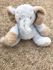 Tiny Treasures Blue Elephant Baby Soft Toy Teddy