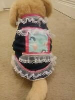 Small Pet Dog Warm Denim Vest Coat Puppy Sweater Winter Apparel Clothes