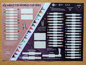 T20 World Cup 2021 A3 Wallchart (Cricket wall chart poster for office / bedroom)