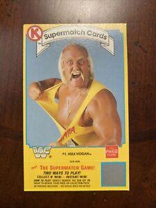 Hulk Hogan - 1987 CIRCLE K/COCA-COLA SUPERMATCH WRESTLING - WWE /WWF