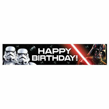Star Wars Party Supplies Classic Birthday Banner Genuine Licensed